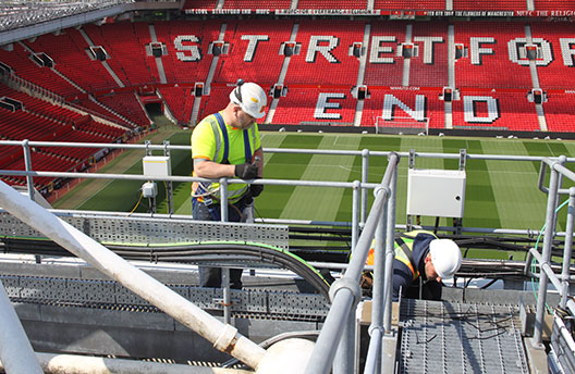 Old Trafford - Floodlight Cable Installation